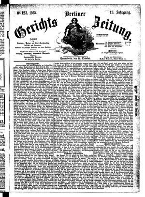 Berliner Gerichts-Zeitung vom 21.10.1865