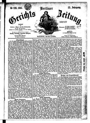Berliner Gerichts-Zeitung vom 28.10.1865