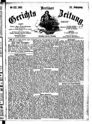Berliner Gerichts-Zeitung vom 31.10.1865