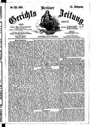 Berliner Gerichts-Zeitung vom 02.11.1865
