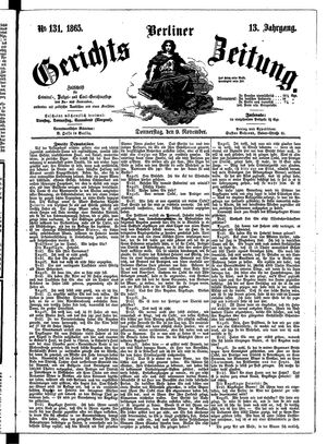 Berliner Gerichts-Zeitung vom 09.11.1865