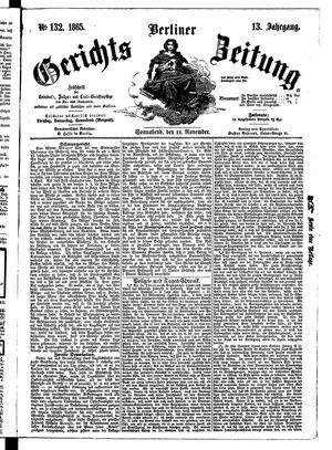 Berliner Gerichts-Zeitung vom 11.11.1865