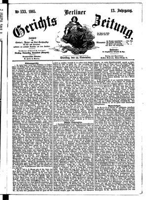Berliner Gerichts-Zeitung vom 14.11.1865
