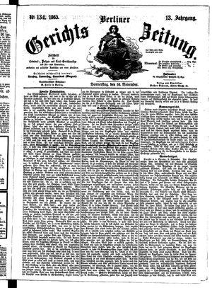 Berliner Gerichts-Zeitung vom 16.11.1865