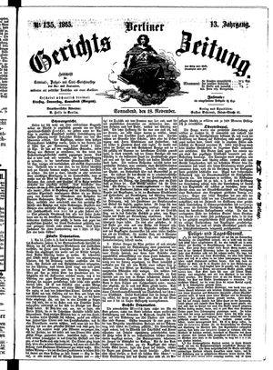 Berliner Gerichts-Zeitung vom 18.11.1865