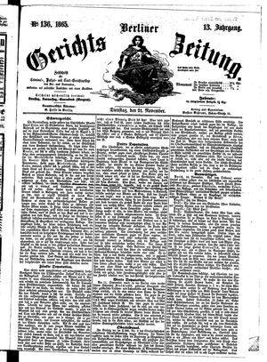 Berliner Gerichts-Zeitung vom 21.11.1865