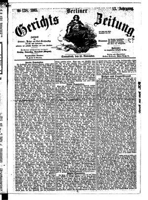 Berliner Gerichts-Zeitung vom 25.11.1865