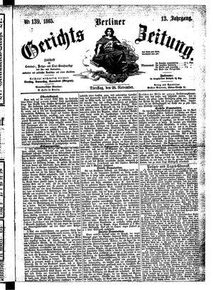 Berliner Gerichts-Zeitung vom 28.11.1865
