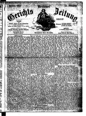 Berliner Gerichts-Zeitung vom 02.12.1865