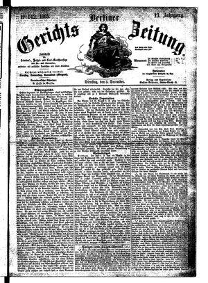 Berliner Gerichts-Zeitung vom 05.12.1865
