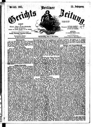 Berliner Gerichts-Zeitung vom 07.12.1865