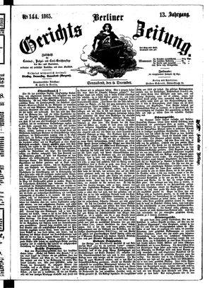 Berliner Gerichts-Zeitung vom 09.12.1865