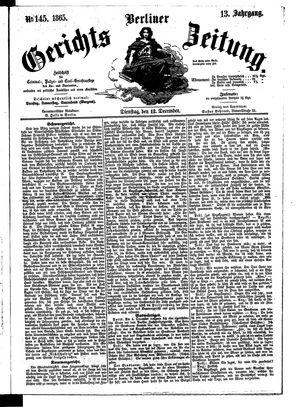 Berliner Gerichts-Zeitung vom 12.12.1865