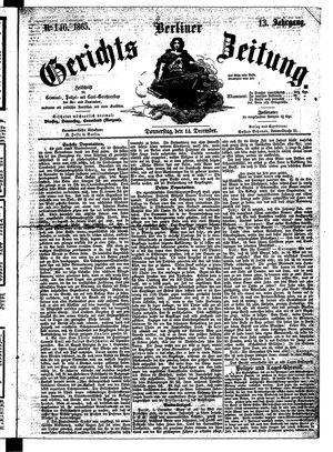 Berliner Gerichts-Zeitung vom 14.12.1865