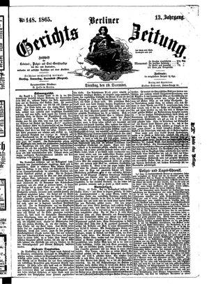 Berliner Gerichts-Zeitung vom 19.12.1865