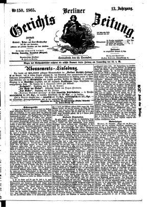 Berliner Gerichts-Zeitung vom 23.12.1865