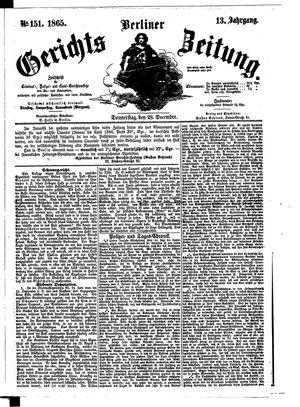 Berliner Gerichts-Zeitung on Dec 28, 1865