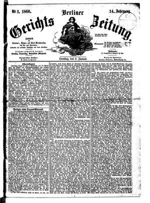 Berliner Gerichts-Zeitung vom 02.01.1866