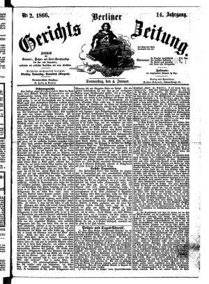 Berliner Gerichts-Zeitung vom 04.01.1866