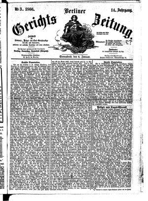 Berliner Gerichts-Zeitung vom 06.01.1866