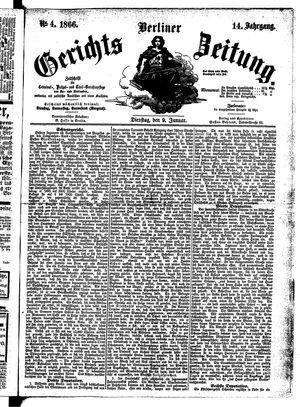 Berliner Gerichts-Zeitung vom 09.01.1866