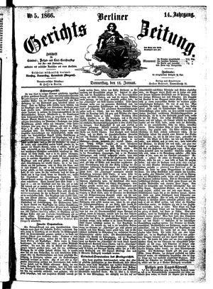 Berliner Gerichts-Zeitung vom 11.01.1866