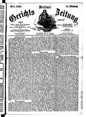 Berliner Gerichts-Zeitung vom 13.01.1866