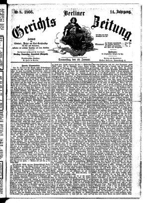 Berliner Gerichts-Zeitung vom 18.01.1866