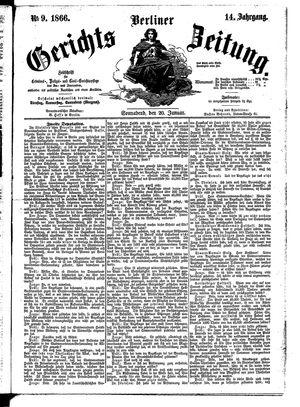Berliner Gerichts-Zeitung vom 20.01.1866
