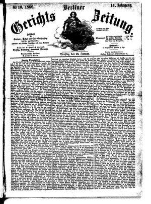 Berliner Gerichts-Zeitung on Jan 23, 1866