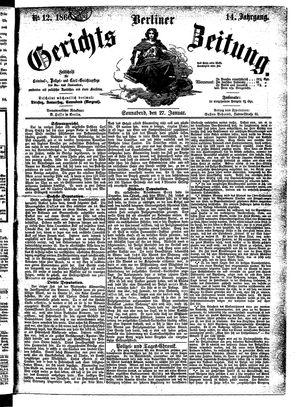 Berliner Gerichts-Zeitung vom 27.01.1866