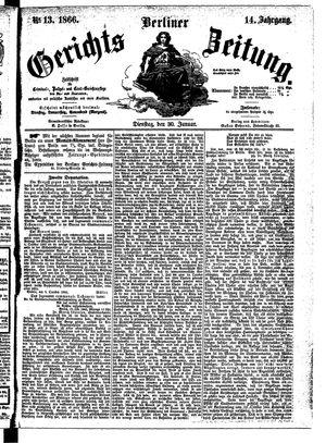 Berliner Gerichts-Zeitung vom 30.01.1866