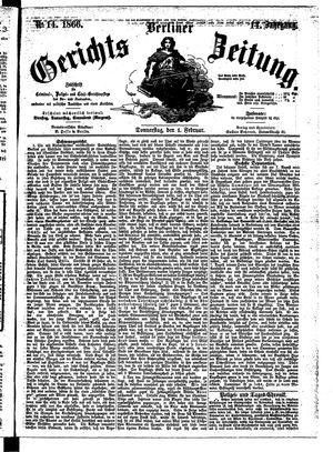 Berliner Gerichts-Zeitung on Feb 1, 1866