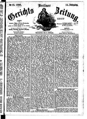 Berliner Gerichts-Zeitung vom 03.02.1866