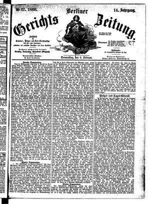 Berliner Gerichts-Zeitung vom 08.02.1866