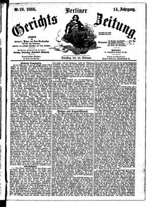 Berliner Gerichts-Zeitung vom 13.02.1866