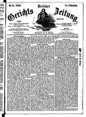 Berliner Gerichts-Zeitung vom 17.02.1866