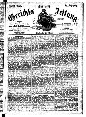 Berliner Gerichts-Zeitung vom 20.02.1866