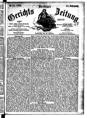 Berliner Gerichts-Zeitung vom 22.02.1866