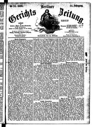Berliner Gerichts-Zeitung vom 24.02.1866