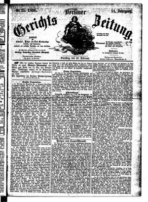 Berliner Gerichts-Zeitung vom 27.02.1866