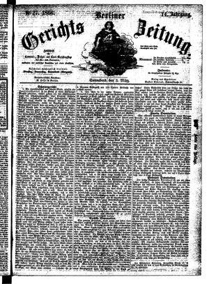 Berliner Gerichts-Zeitung vom 03.03.1866