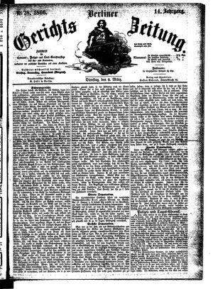 Berliner Gerichts-Zeitung vom 06.03.1866