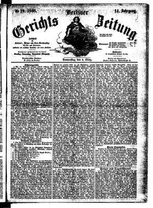 Berliner Gerichts-Zeitung vom 08.03.1866
