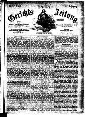 Berliner Gerichts-Zeitung vom 13.03.1866