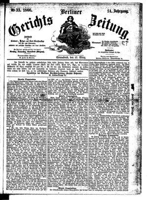 Berliner Gerichts-Zeitung on Mar 17, 1866