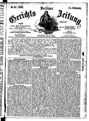 Berliner Gerichts-Zeitung vom 24.03.1866