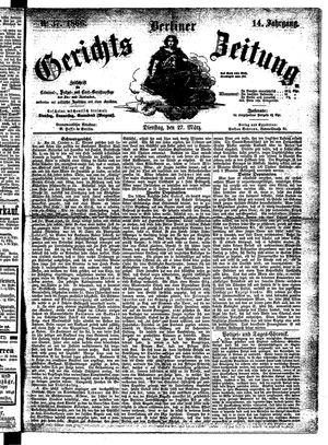 Berliner Gerichts-Zeitung vom 27.03.1866