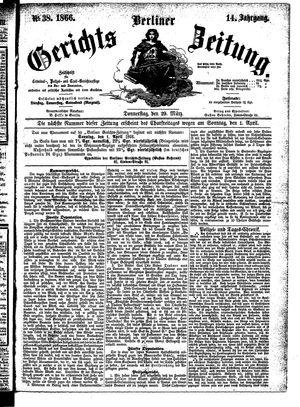 Berliner Gerichts-Zeitung on Mar 29, 1866