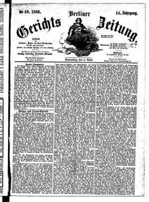 Berliner Gerichts-Zeitung vom 05.04.1866